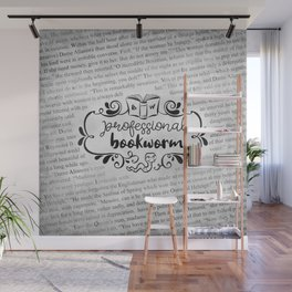 Professional Bookworm Paper Wall Mural