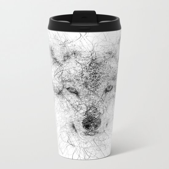 WolF Line Metal Travel Mug