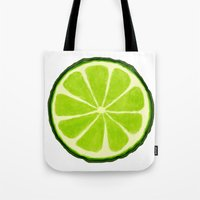 lime Tote Bags featuring Lime by Linde Townsend