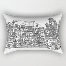 Busy City XI Rectangular Pillow