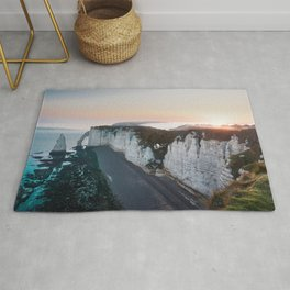 Chalk Cliffs of Étretat, Normandy France Rug
