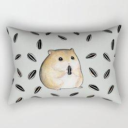 Seed lover hamster Rectangular Pillow