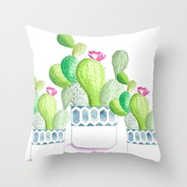 CACTUS POT Throw Pillow