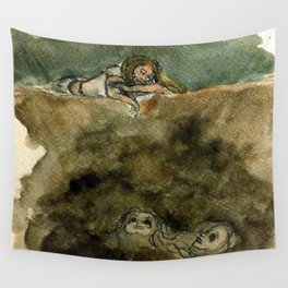 The Abyss Stares Back Wall Tapestry