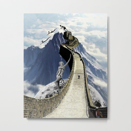 Holding up the Wall Metal Print