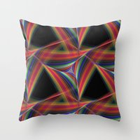 triangles Throw Pillows featuring Triangles by David Zydd