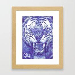 Roaring Tiger Framed Art Print