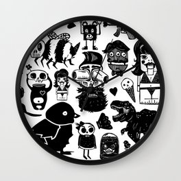 Multi Monsters Wall Clock