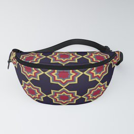 Moroccan Flare Geometric Seamless Pattern Fanny Pack