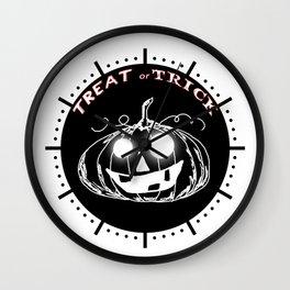 Pumpkin:Treat or Trick Wall Clock