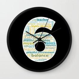 Life Path 6 (black background) Wall Clock