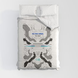 Hacked Digital Skull Comforters