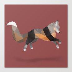 Silver Cross Fox. Canvas Print