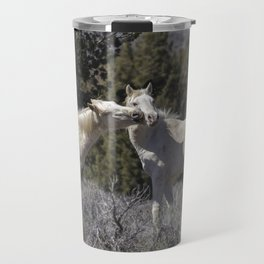 Wild Horses with Playful Spirits No 2 Travel Mug