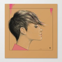 Left in Pink Canvas Print
