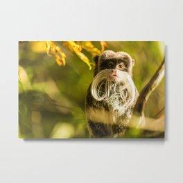 Mini Cute Monkey Metal Print