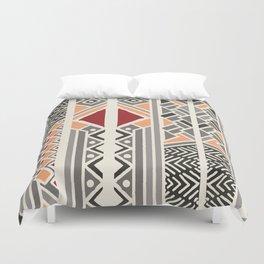 Tribal ethnic geometric pattern 034 Duvet Cover
