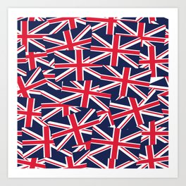 Union Jack Flags Art Print