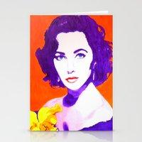 jenny liz rome Stationery Cards featuring Liz by Marco Kooiman