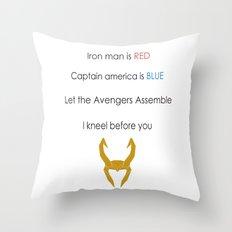 Loki Valentine Throw Pillow