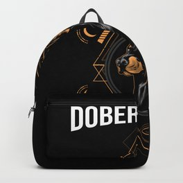 cool doberman t-shirt doberman master Backpack