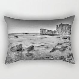 """Submarine Reef"". Sunset at the beach Rectangular Pillow"