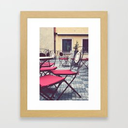Cafe, Prague. Framed Art Print