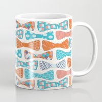 bows Mugs featuring Geometric Bows by Wild Notions