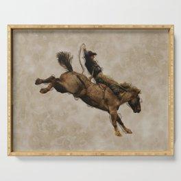 Western-style Bucking Bronco Cowboy Serving Tray