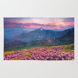 Blooming mountains Rug