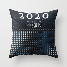 Moon calendar 2020 #1 Throw Pillow