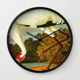 Whooping Crane Wall Clock