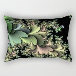 Kale Leaves Fractal Rectangular Pillow