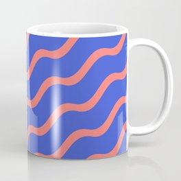 Red Waves in a Blue Sea Coffee Mug