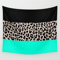 the national Wall Tapestries featuring Leopard National Flag VII by M Studio