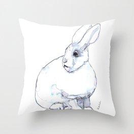Arctic Hare Throw Pillow