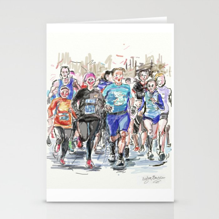 Runners Jogging Stationery Cards