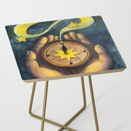 Compass of the Stars Side Table