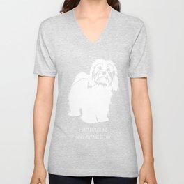 Havanese-tshirt,-just-freaking-love-my-Havanese Unisex V-Neck