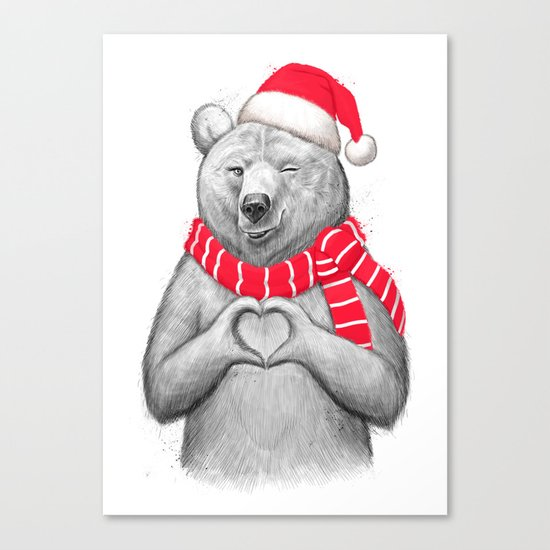 christmas bear #2 Canvas Print