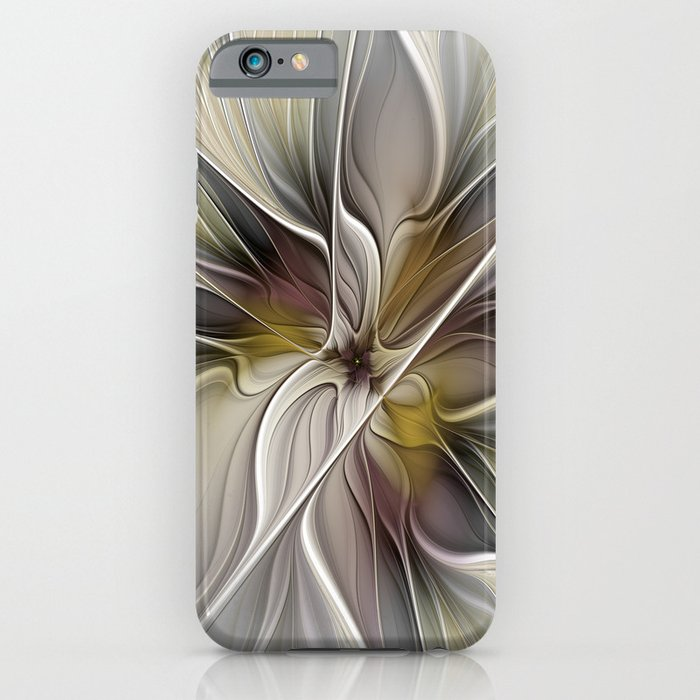 Floral Abstract, Fractal Art iPhone Case