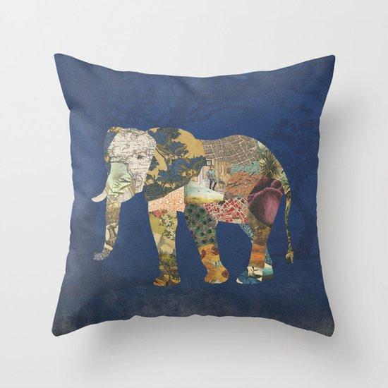 Elephant - The Memories of an Elephant Throw Pillow