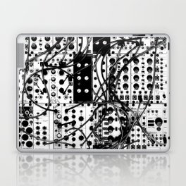 analog synthesizer system - modular black and white Laptop & iPad Skin
