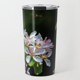 Pollinating Bee visiting the flowers Travel Mug