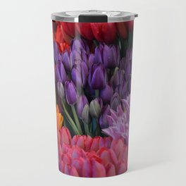 Colorful bunches of tulips Travel Mug