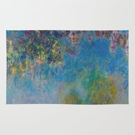 Wisteria by Claude Monet Rug