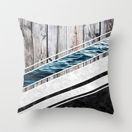 Striped Materials of Nature I Throw Pillow