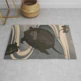 Japan Art, Turtles Rug