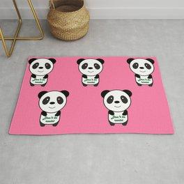 Don't be racist panda Rug