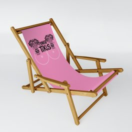Power to the Tikis - Pink (Breast Cancer Awareness) Sling Chair
